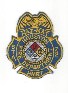 vintage Houston TX Texas Fire Dept. HFD Station 22 HMRT Hazmat patch - NEW!