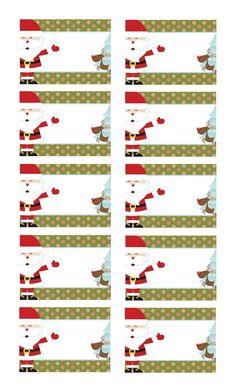Fabriquer étiquettes de Noël à coller sur les cadeaux