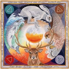 "Elements:  ""Four Elements,"" by Gallery Hill Art. May Fire inspire and transform you. May Air purify you and set you free. May Earth uphold and sustain you. And may the blessings of Water make you wise."