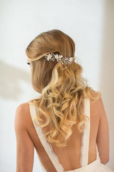 Wedding Hair Vine Floral Hair Vine Bridal by PowderBlueBijoux