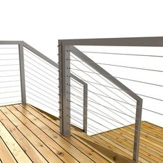 Stainless Steel Jakob Cable for Cable Railing System (Pack of - The Home Depot Cable Stair Railing, Modern Stair Railing, Cable Railing Systems, Balcony Railing Design, Stair Handrail, Staircase Railings, Modern Stairs, Deck Railings, Staircase Design