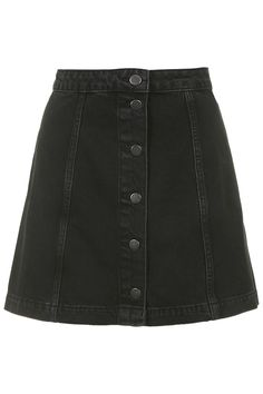 52.00 MOTO Denim Button Front A-Line Skirt - Topshop