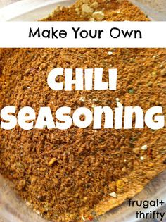 Frugal & Thrifty : Chili Seasoning- I just put this recipe together today and give it a thumbs up :)