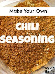 Frugal & Thrifty : Chili Seasoning
