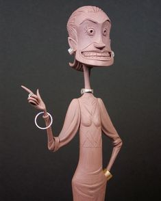 Another view of the Miss Clench design maquette for Henry Selick's Shadow King. I really wish we had gotten to animate her and see her move! Based on designs by Tony Fucile and Heidi Smith. #missclench #puppet #maquette #clay  #damonbard #shadowking #stopmotionanimation #stopmotionpuppet #stopmotion #cinderbiter #shademaker #disney #henryselick #charactervisualdevelopment #donebyhand  #foundation #art #sculpture #claymasters #artoftheday #artistoninstagram www.bardstudio.com
