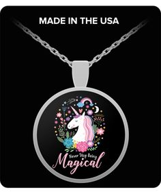 Never Stop Being Magical Unicorn Necklace For Women