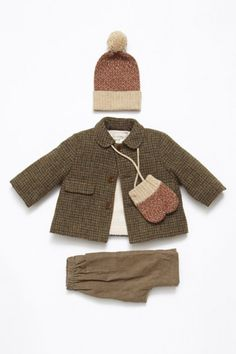 Caramel Baby and Child for fall/winter 2013, baby tweeds so cute. #fw #baby #kids