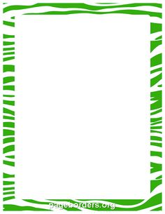 Printable green zebra print border. Use the border in Microsoft Word or other programs for creating flyers, invitations, and other printables. Free GIF, JPG, PDF, and PNG downloads at http://pageborders.org/download/green-zebra-print-border/
