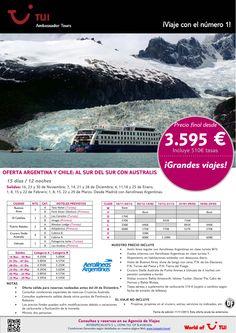 ¡Grandes  viajes! Oferta Argentina y Chile: Al Sur del Sur con Australis. Precio final desde 3.595€ - http://zocotours.com/grandes-viajes-oferta-argentina-y-chile-al-sur-del-sur-con-australis-precio-final-desde-3-595e-3/