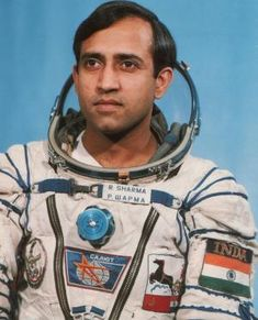 Rakesh Sharma was the first Indian to travel in Space. He was born on 13th January 1949 in Punjab, India. He flew on Salyut 7 Space Station. http://www.aerospaceguide.net/astronaut/rakesh_sharma.html