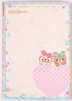 Rabbit And Bear With Glasses Notepad For Friends Diary 6