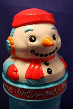 Mr Snowman Cookie Jar