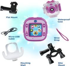 Kidizoom Action Cam included accessories...lenessa wants this so bad