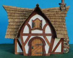 Casa de Tudor, casa de hadas, muñeca, casa de hadas