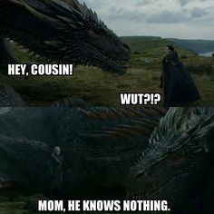 Jon Snow: Knower of Nothing, Game of Thrones.