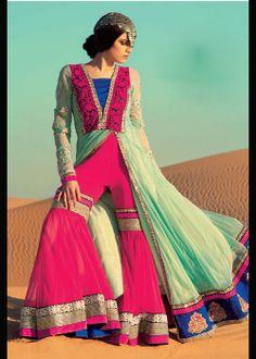Anarkali salwar Dress With Sarara For Weddings . Shop at - http://gravity-fashion.com/16081-anarkali-salwar-dress-with-sarara-for-weddings.html