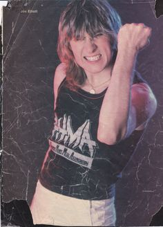 Joe Elliott. A severely battle scarred Poster with a nice vintage feel.