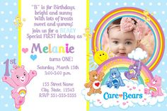 Hey, I found this really awesome Etsy listing at https://www.etsy.com/listing/224824945/care-bears-invitation-baby-first