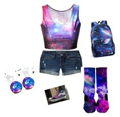 """""""bc galaxy is straight up swaggy"""" by jayaunnac ❤ liked on Polyvore featuring Aéropostale and HVBAO"""