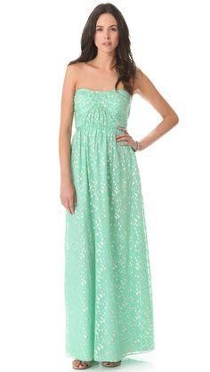 Jennifer Strapless Maxi Dress / Shoshanna