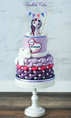 Princess Twilight Sparkle - Cake by Tamara My Little Pony Cake, My Little Pony Twilight, My Little Pony Birthday Party, Anniversaire My Little Pony, Unicorn Cake Design, Sparkle Cake, Girl Cakes, Twilight Sparkle, Celebration Cakes