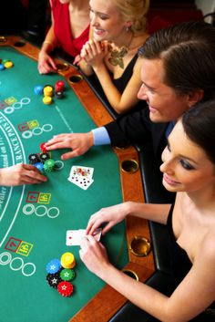 Casino-themed party fabulously dressed people of course!