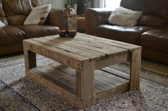 Rustic Pallet Pallet Coffee Table