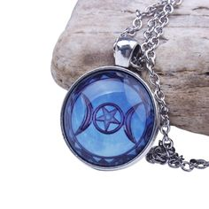 NIGHT WOLF /& 5 POINT PENTACLE STAR WOLF HEAD NATURE PAGAN PENDANT ADJ NECKLACE