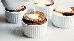 Jacques Pépin shares his recipe for this french dessert which pairs airy chocolate soufflé with creamy orange sauce. Get the recipe on Tasting Table.
