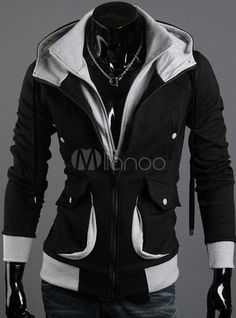 Black Color Blocking Terry Hoodie - Save Up to 70% Off on fabulous fashion trend products at Milano with Coupon and Promo Codes.