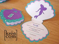invitation sirene 5 ans margot 50th Birthday Party, Birthday Party Decorations, Party Themes, Mermaid Invitations, Birthday Invitations, Ariel Bebe, Invitation Fete, Harry Potter Halloween Party, Mermaid Baby Showers