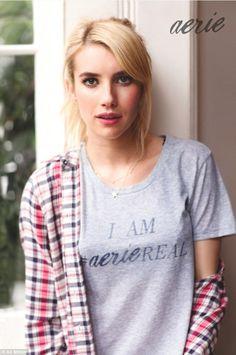 Emma Roberts accepte de se mettre à nu sans retouche pour la marque Aerie