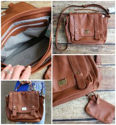 Love the chevron pattern inside, love the size, the classic leather, and the ability to wear messenger-style or as a handbag.