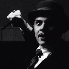 Evan Peters as Mr. March on American Horror Story Hotel.