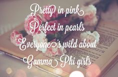 Pretty in pink Perfect in pearls Everyone's wild about Gamma Phi girls #GammaPhiBeta #Pearls #Pink