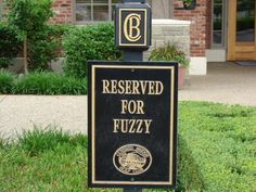 If you visit Fuzzy Zoeller's Covered Bridge Golf Club, be sure not to park in his spot.  You never know when he is going to pop in for a visit!