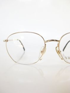 Gold Metal Eyeglasses Frame Vintage Glasses 1980s Oval Womens Ladies Eyeglasses Minimalist Optical Frames 80s Eighties Indie Hipster Wire