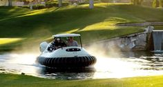 Float down fairways on this hovercraft golf cart | Crave - CNET