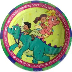 Items similar to Dragon Tale small plates on Etsy Dragon Tales, Gummy Bears, Small Plates, Time Travel, Memoirs, Birthday Parties, Cartoons, Childhood, Animation