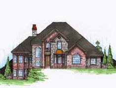 Traditional Style House Plans - 2831 Square Foot Home, 2 Story, 3 Bedroom and 2 3 Bath, 3 Garage Stalls by Monster House Plans - Plan 53-253