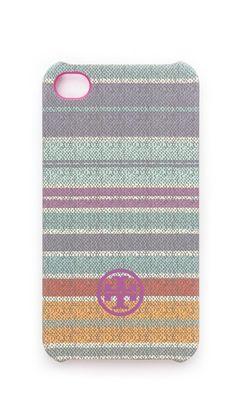 Tory Burch Baja Stripe iPhone Case via @Shopbop
