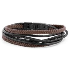 Buy Lucleon - Black & Brown Roy Leather Bracelet for only Shop at Trendhim and get returns. We take pride in providing an excellent experience. Mode Mantel, Black Leather Bracelet, Leather Bracelets, Engraved Bracelet, Bracelet Cuir, Bracelet Men, Braided Leather, Bracelet Designs, Bracelets For Men