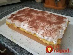 Tento dezert možno poznáte celkom inak – ako dezert do pohára, ale verte, že vtomto prevedení si ho zamilujete ešte viac!  Potrebujeme:  Na základ:    8 bielkov    8 lyžíc kr. cukru    8 lyžíc múky hladkej    1 bal. Prášku do pečiva    Na krém:    1 celé Hungarian Desserts, Hungarian Recipes, Non Plus Ultra, Protein Brownies, Homemade Sweets, Chocolate Protein, Healthy Dessert Recipes, Brownie Recipes, Cakes And More