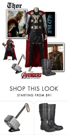 """""""Thor Odinson - Avengers : Age Of Ultron"""" by gone-girl ❤ liked on Polyvore featuring Marvel, men's fashion, menswear, marvel, thor, mcu and AAOU"""