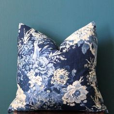 Chinoiserie Pillow Cover Tree Peony Pillow Cover Bird | Etsy Classic Cushion Covers, Classic Cushions, White Pillow Covers, Floral Cushions, Blue Cushions, Floral Fabric, Estilo Hampton, Perth, Animal Print Decor