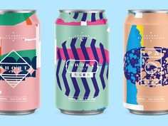 Beer Cans designed by MadeByStudioJQ. Connect with them on Dribbble; the global community for designers and creative professionals. Food Packaging Design, Beverage Packaging, Coffee Packaging, Bottle Packaging, Chocolate Packaging, Branding Design, Mochi, Beer Label Design, Beer Brands