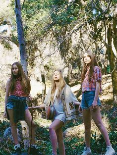 Alana, Este and Danielle Haim. These sisters make me wanna grow my hair out to a crazy length and shred on guitar.