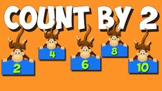 Count By 2 Skip Counting Songs, Counting By 2, Multiplication Songs, Math Songs, K 1, Science Resources, Free Math, Help Teaching, Numeracy