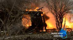 Waukee Fire Department. Live Fire Training. 3169 Waco Place - Waukee, IA 50263. Aerial drone video shot by Waukee Aerial on December 3, 2016. ©2016 Waukee Aerial. http://dsm.photo.