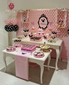 Mickey Mouse / Minnie Mouse Baptism Party Ideas | Photo 1 of 16 | Catch My Party